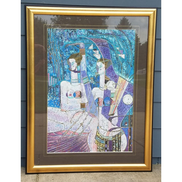 """""""Lot's Daughters"""" by Adrian Wong Shue original limited edition serigraph signed and numbered 283/300, 1988 ADRIAN WONG..."""