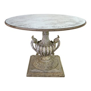 Painted Neoclassical Style Table With Antique Mirror Top For Sale