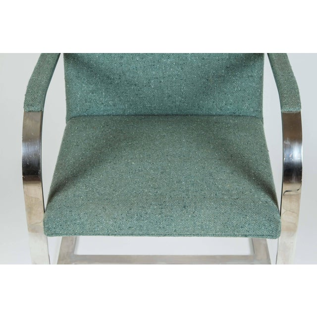 Blue Vintage Mid Century Mies Van Der Rohe Brno for Knoll Chair- a Pair For Sale - Image 8 of 10