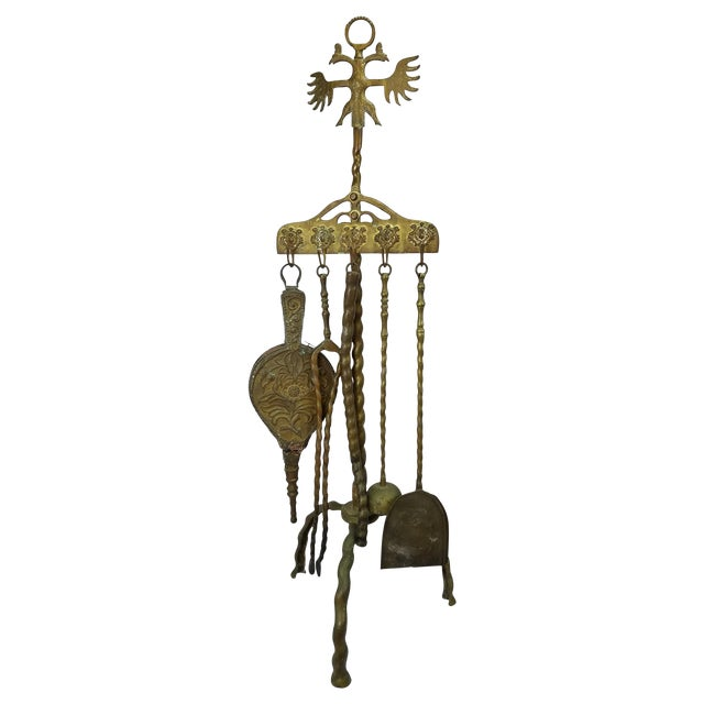 Russian Double Eagle Fireplace Tool Set - Image 1 of 5
