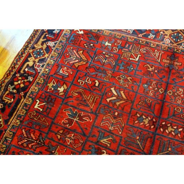 Islamic 1900s Handmade Antique Persian Heriz Rug 7.3' X 10.1' For Sale - Image 3 of 11