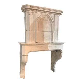 Louis XIV Limestone Mantel