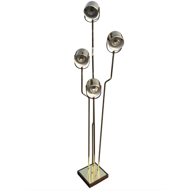 Gold Reggiani Brass Floor Lamp With Four Heads For Sale - Image 8 of 8