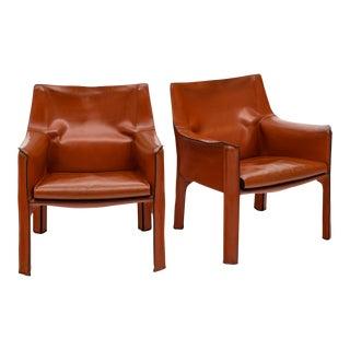 Mario Bellini Leather Armchairs