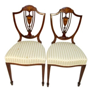 Antique English Sidechairs - a Pair For Sale