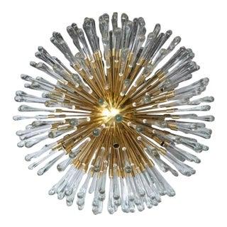 1940s Austrian Brass Sputnik Chandeliers For Sale