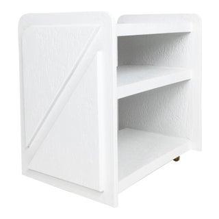 White Post-Modern Bar Cart