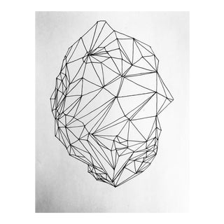 "Original Pen & Ink Drawing ""Lines & Stone I I"" For Sale"