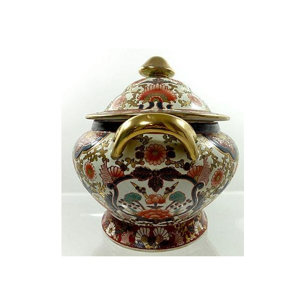 Hand-Painted Decorative Chinese Tureen - Image 3 of 7