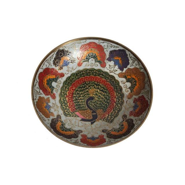 Enamel Peacock Dish - Image 1 of 4