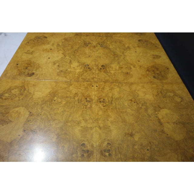 Milo Baughman Olivewood Burl Parsons Dining Table For Sale In Dallas - Image 6 of 13