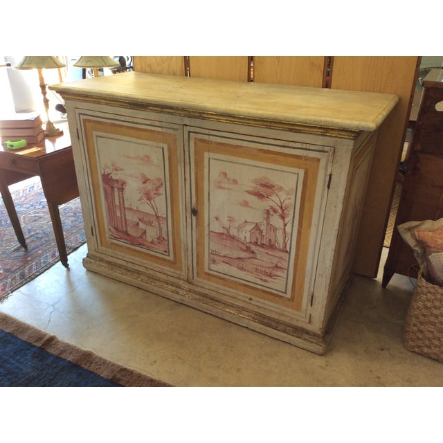 Antique Italian Painted Credenza - Image 2 of 8