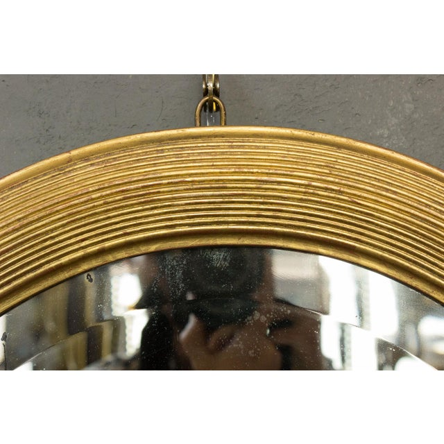 Wood French 19th Century Oval Mirror with Gilt Frame For Sale - Image 7 of 11