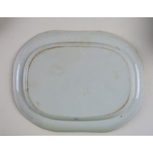 English Ironstone Transferware Platter - Image 4 of 4