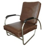 Image of Wolfgang Hoffmann Style Chrome Club Chair by Royal Metal For Sale