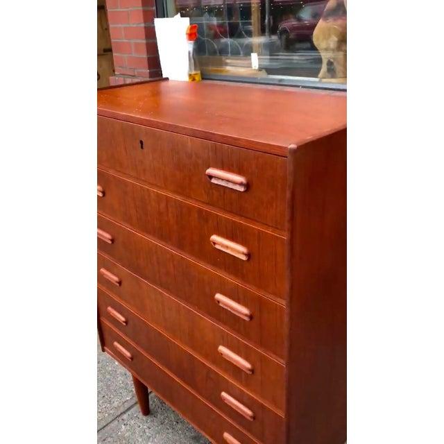 Vintage Danish Modern Dresser Cabinet Storage Drawers For Sale - Image 4 of 5
