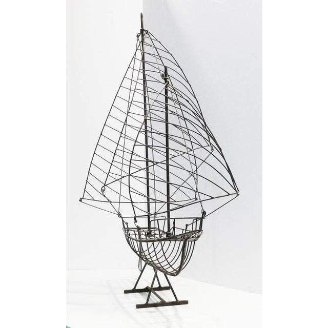 Nautical Vintage Wire Ship For Sale - Image 3 of 6