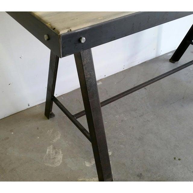 Vintage Industrial Reclaimed Table - Image 7 of 7