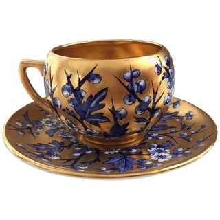 Mid-18th Century English Traditional Coalport Porcelain Cup and Saucer