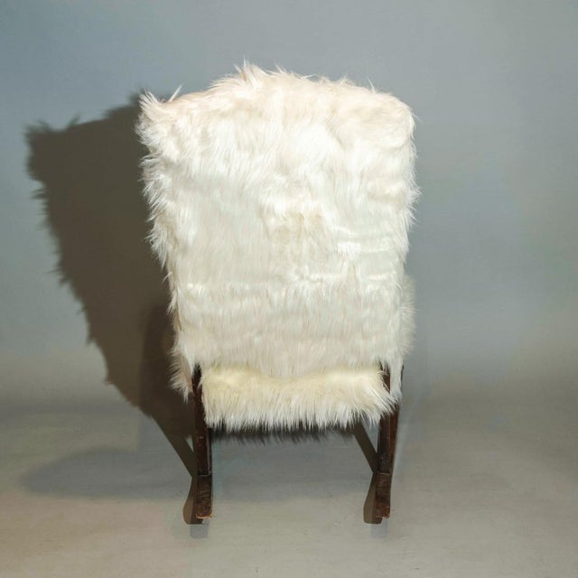 1940s Vintage Traditional Curated French Rocker Chair For Sale - Image 5 of 6