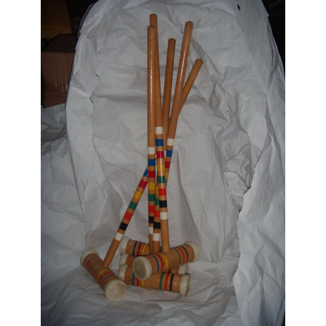 Vintage Croquet Mallets - Set of 5 - Image 2 of 7
