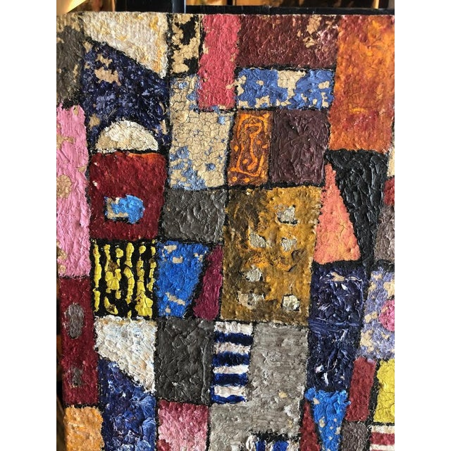 1950s Vintage Modern Abstracted Cityscape Painting For Sale In Seattle - Image 6 of 11