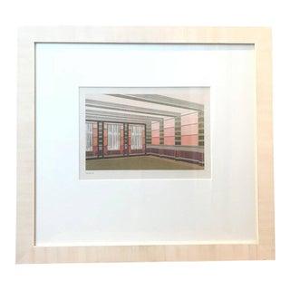 20th Century Dutch Architectural Interior Rendering For Sale