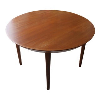 Mid-Century Round Teak Extension Dining Table