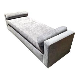 Grey Velvet Kreiss Lyon Bench For Sale