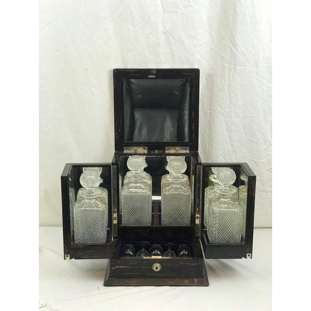 Coromandel Wood Victorian Locking Decanter Box Tantalus Circa 1870s For Sale - Image 13 of 13