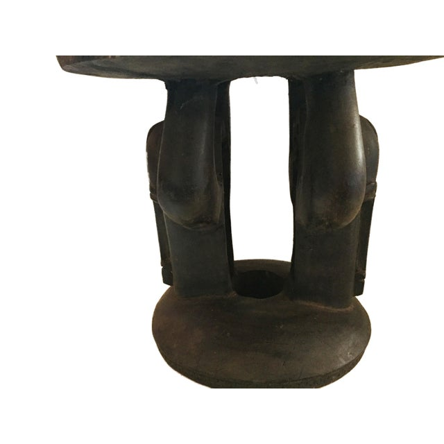 """Superb African Baga Low Stool Guinea 12"""" H For Sale - Image 4 of 12"""