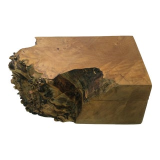 Michael Elkan Studio Burl Wood Box For Sale