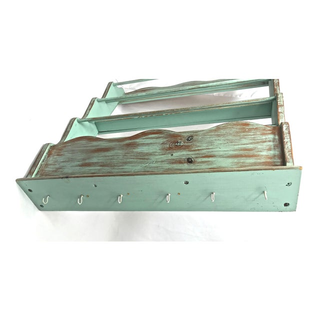 Shabby Chic-Style Wall Plate Rack For Sale In Raleigh - Image 6 of 9