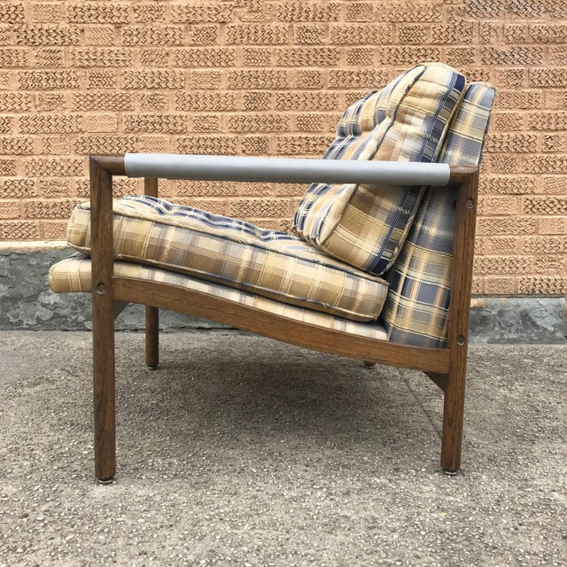 Wood Mid-Century Modern Harvey Probber Style Upholstered Club Chairs- A Pair For Sale - Image 7 of 11