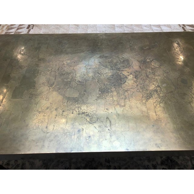 1970s 1970s Hollywood Regency Brass Dining Table For Sale - Image 5 of 6