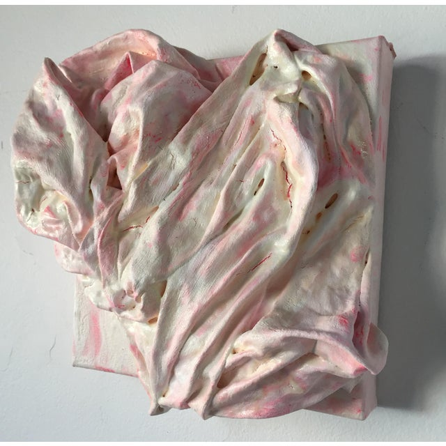 """Abstract """"Pink Heart"""" Mixed Media Painting by Chloe Hedden For Sale - Image 3 of 11"""