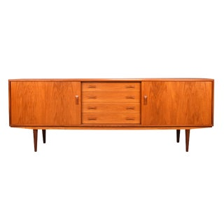Mid-Century Modern Teak Credenza by Clausen and Son For Sale