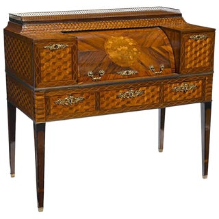 18th Century Italian Inlaid Desk With Fine Marquetry and Parquetry For Sale