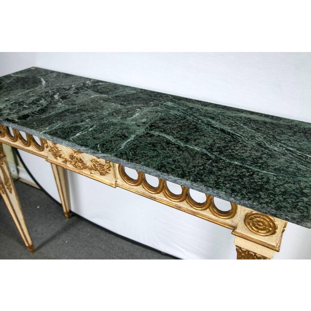 Italian Italian Paint Decorated Marble-Top Console For Sale - Image 3 of 6