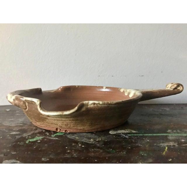 Vintage Pottery Handled Skillet For Sale - Image 4 of 6