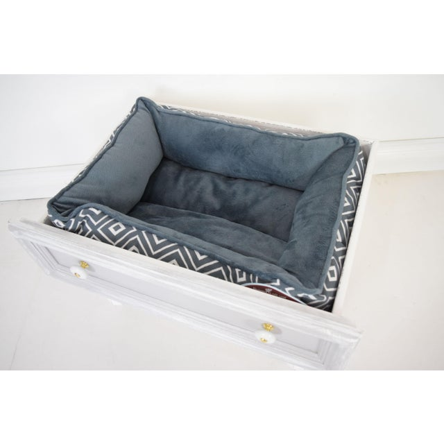 Gray and White Mounted Drawer/Storage Box - Pet Bed For Sale In San Francisco - Image 6 of 12