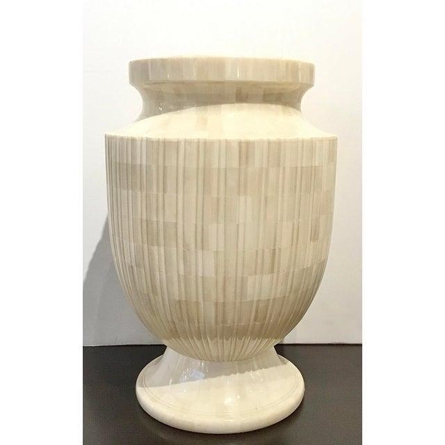 2010s Showroom Modern Mosaic Bone Vase For Sale - Image 5 of 5