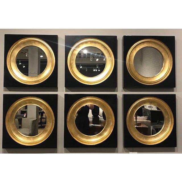 Art Deco Modern Gemma Black & Gold Mirror For Sale - Image 3 of 3