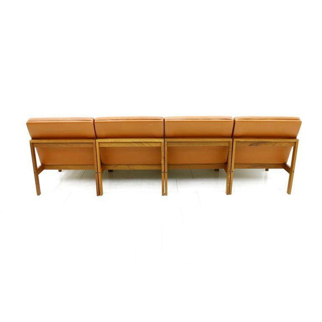 Brown Torben Lind and Ole Gjerlov Modular Seating Group Chairs Sofa for France & Son For Sale - Image 8 of 9