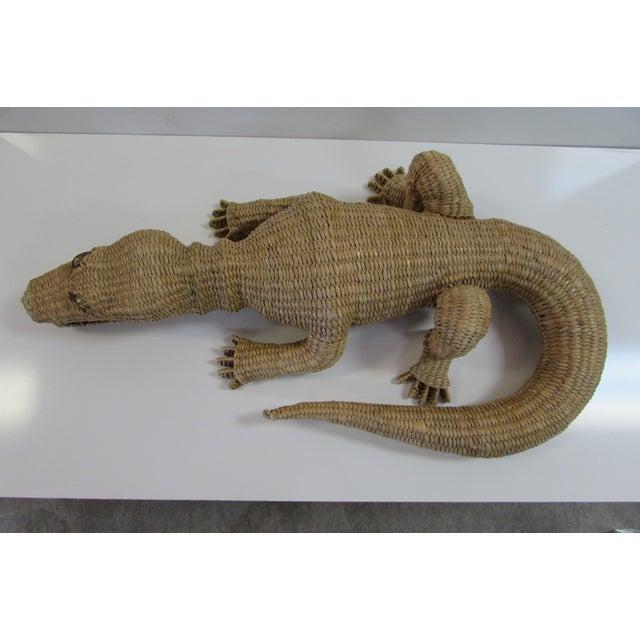Wicker Crocodile Figure by Mario Torres - Image 3 of 5