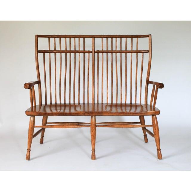 High Back Solid Oak Bench - Image 2 of 11