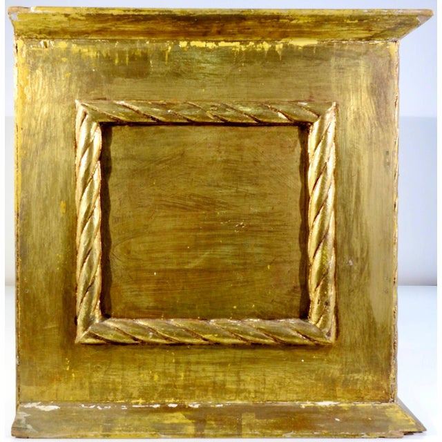 Early 20th Century Gold Gilt Chest With Reverse Painted Glass on Stand For Sale - Image 9 of 11