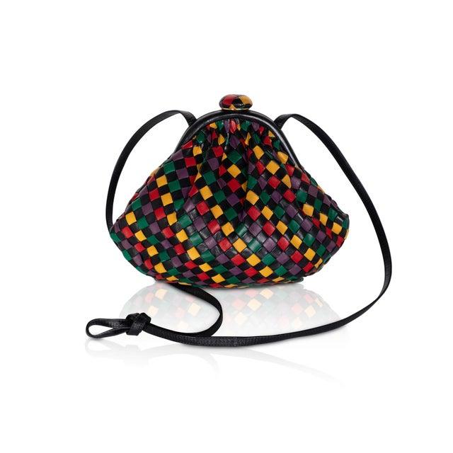 Black Vintage Bottega Veneta Intrecciato Harlequin Shoulder Bag For Sale - Image 8 of 8