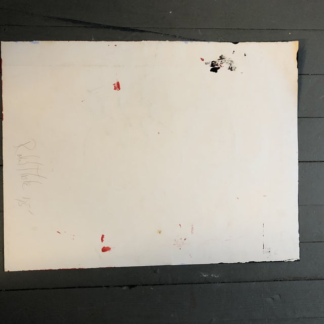 Abstract Original Vintage Abstract Robert Cooke Painting Mid Century For Sale - Image 3 of 5