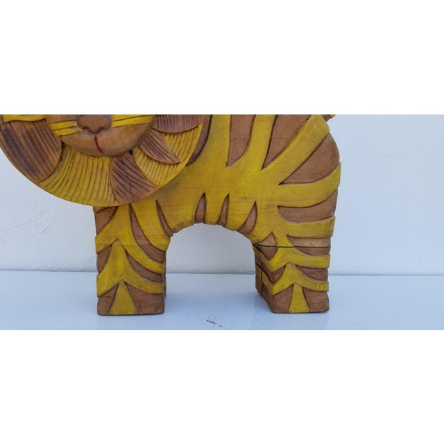 1970s Guido Gambone Style Sun Lion Sculpture For Sale - Image 5 of 11